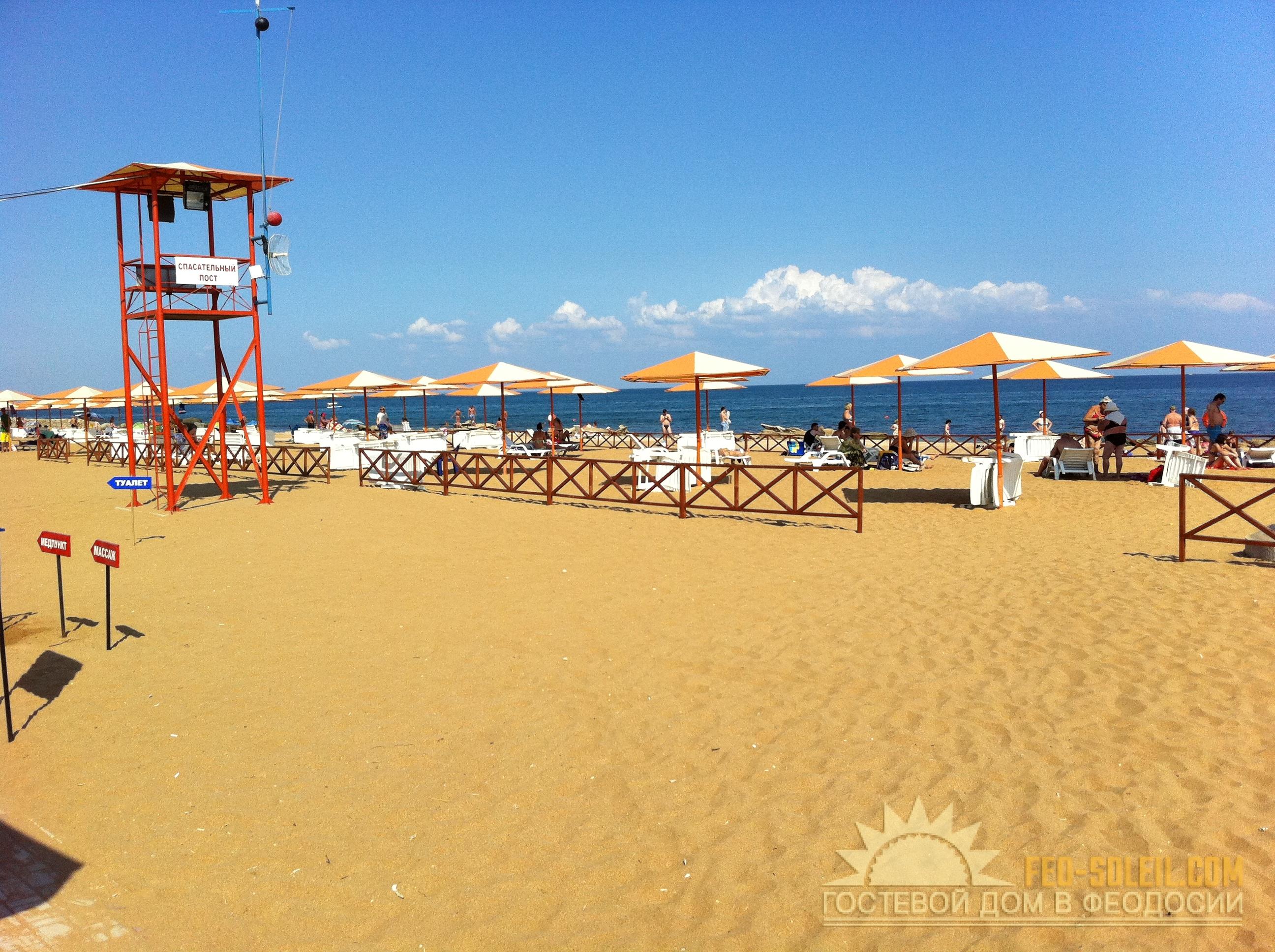 Береговое феодосия. фото пляж