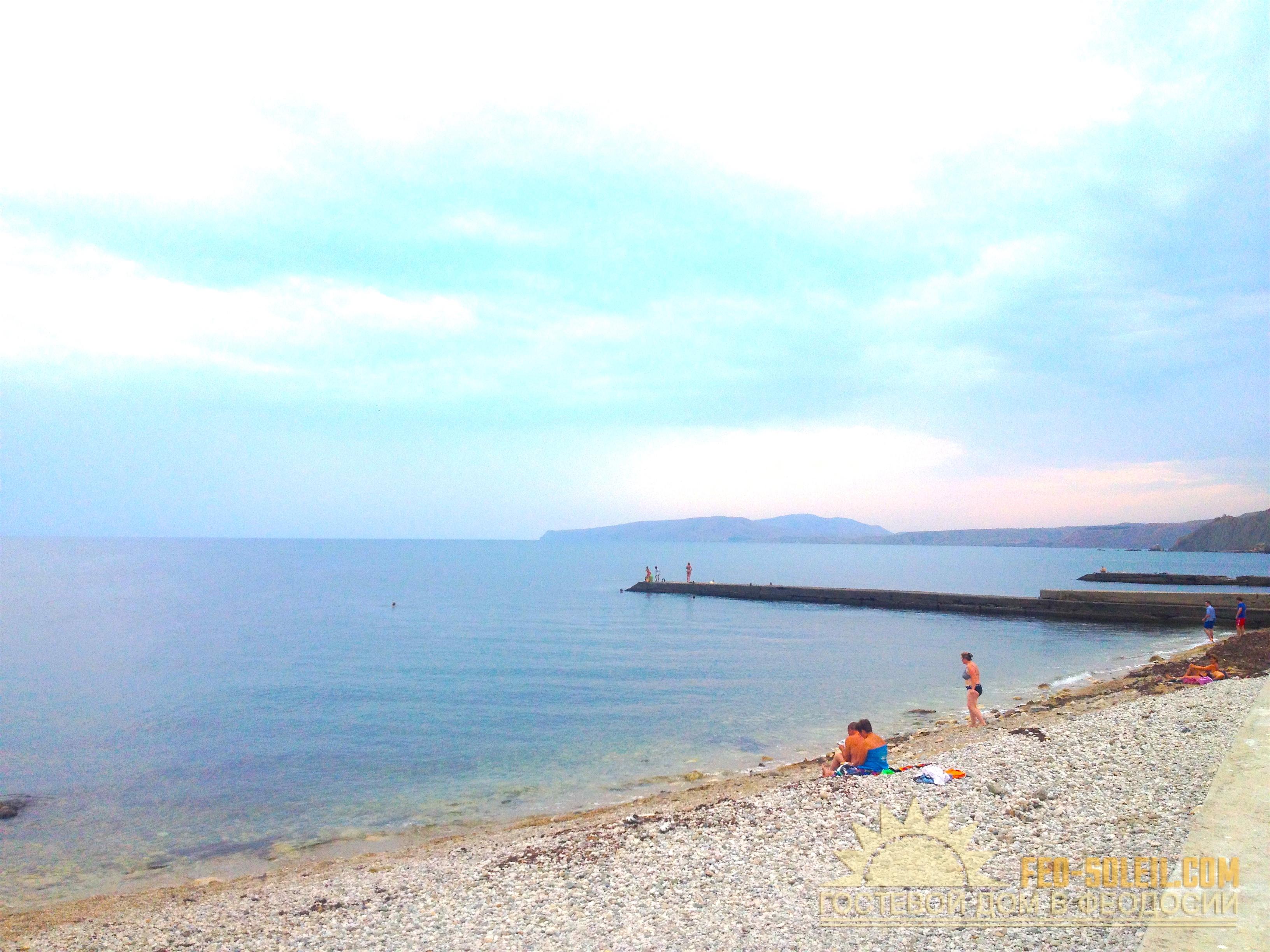 Пляж Камешки Феодосия